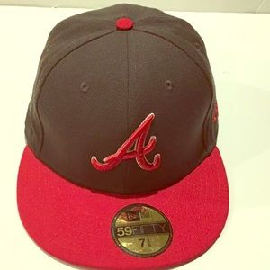 New Era 59 Fifty MLB A Cap Gray And Red Size 7 1/8